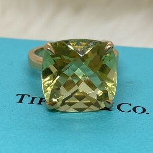 Tiffany & Co. 18k Lemon Quartz Sparkler Ring